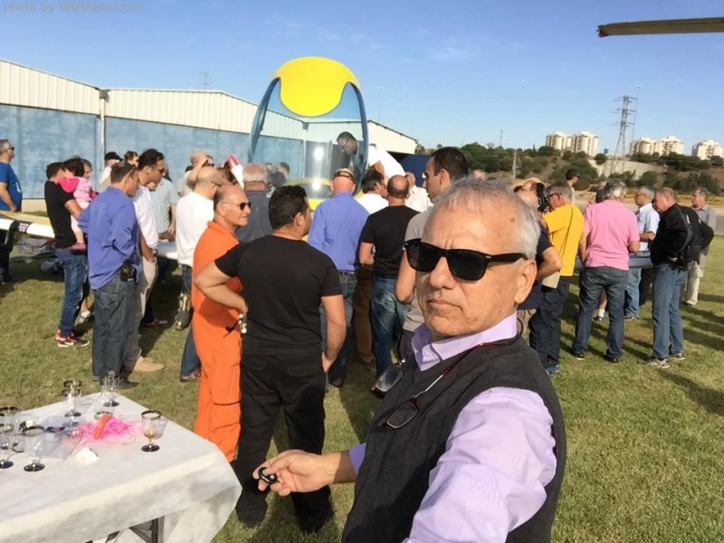 Celebrating the launch of a demonstration airplane in Israel