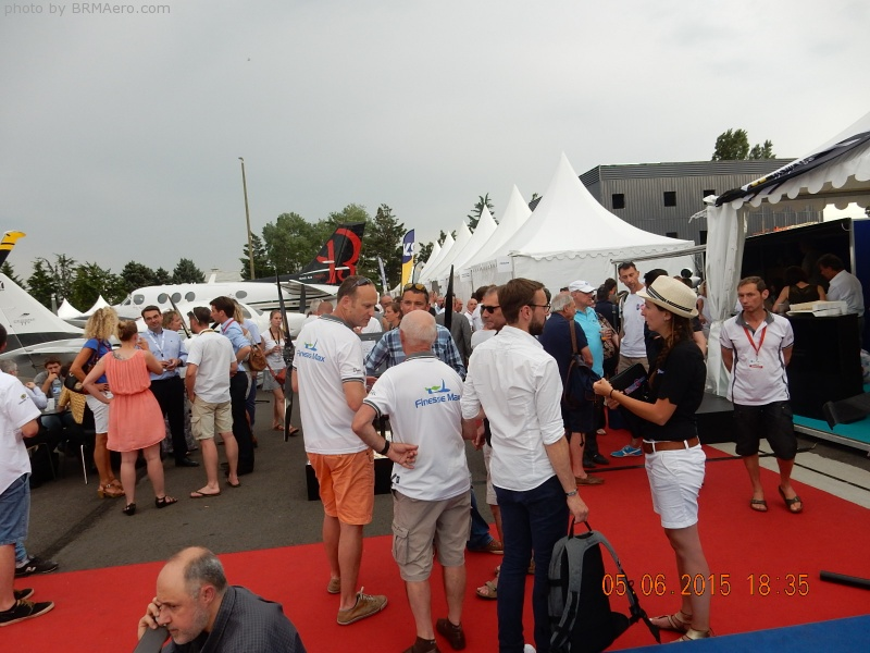 Lyon Air Show 2015 with friends and customers