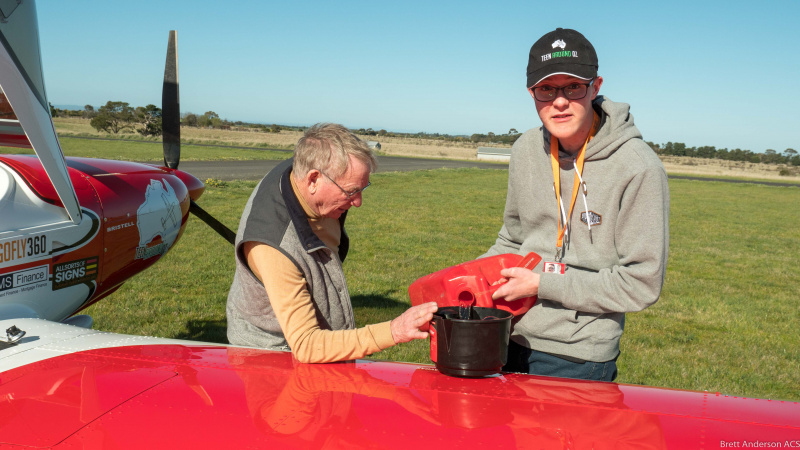 Conquering Australia by air and Guiness book of records