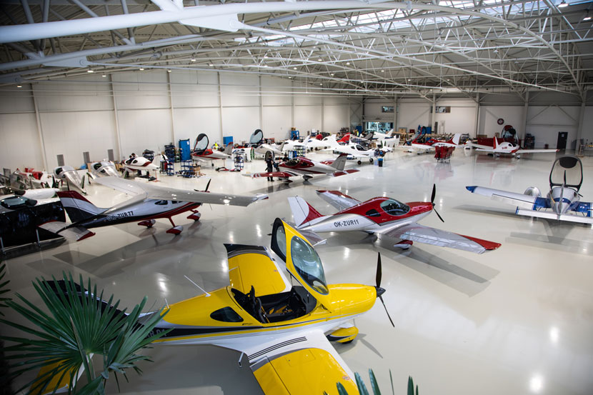 New hangar with its own apron