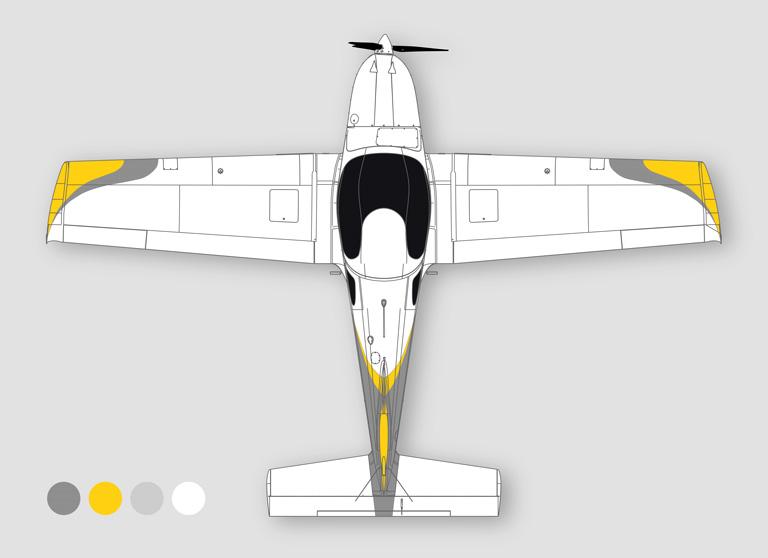 150 Design grey aluminium & traffic yellow & silver & traffic white