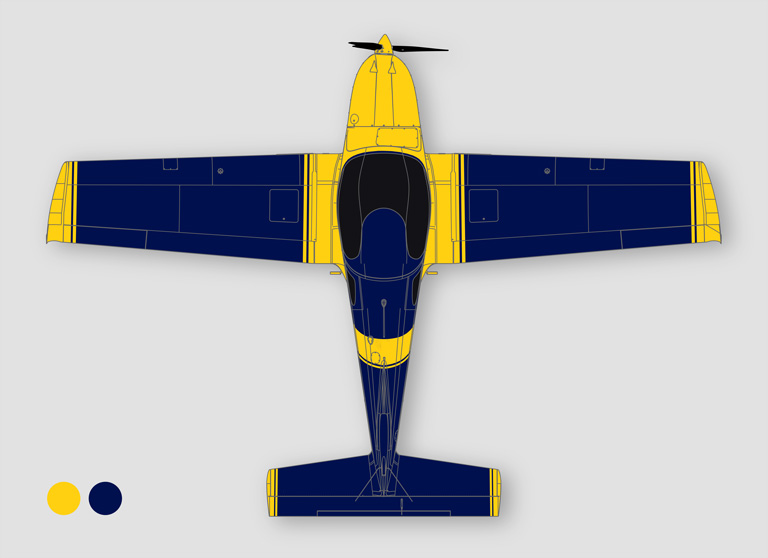 023 Design traffic yellow & pearl night blue