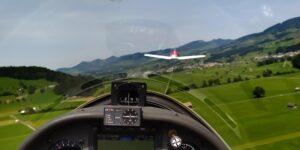 Glider towing exhibition in Swiss airclub Schänis
